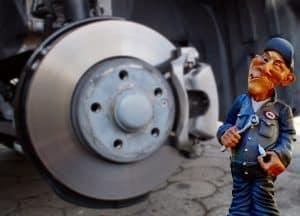 roder les plaquettes de frein voiture